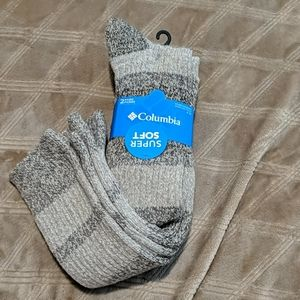 Columbia knee socks 2 pair khaki oatmeal tan